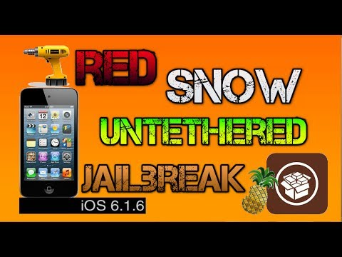 How To Jailbreak iOS 6.1.6 Untethered iPhone 3gs & iPod Touch 4g Redsn0w (download cydia)