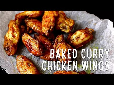 Best Baked Curry Chicken Wings Recipe | HappyFoods Tube