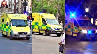 London Ambulances Responding Lights and Sirens Compilation