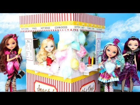How to Make a Doll Concession Stand - Doll Crafts