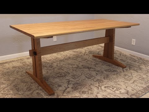 Making a Cherry Trestle Table