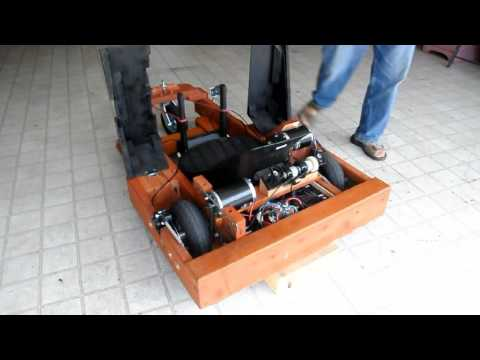 My Electric, Dual-Motor, Wooden Go Kart (with sound)