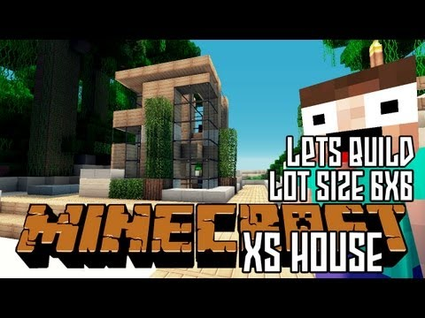 Minecraft Lets Build HD: Small House 6x6 Lot + Download