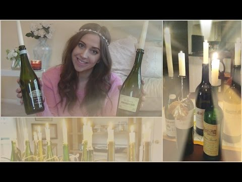 EASY How to make DIY Wine Bottle Candles | FashionQuirks