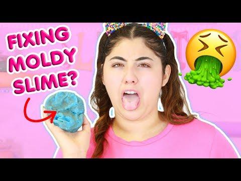 FIXING MOLDY SLIMES ~ 1 YEAR OLD SLIMES ~ Slimeatory #362