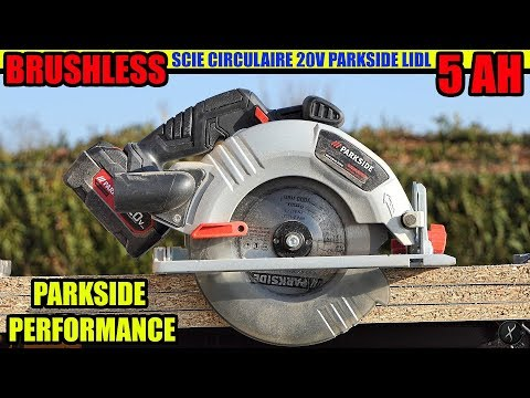 Parkside Performance Scie Circulaire 20v Brushless Circular