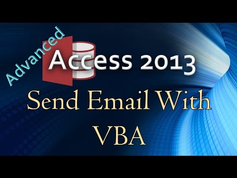 26. (Advanced Programming In Access 2013) Send Outlook Email With VBA