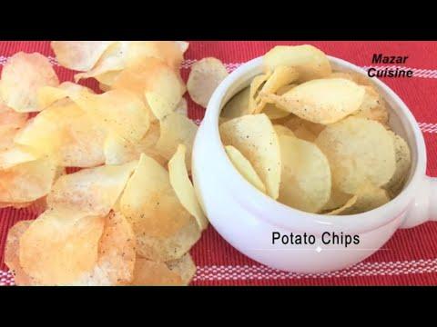 Potato Chips Recipe ,Homemade Crispy Potato Chips Recipe ,Easy Snack Potato Chips