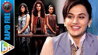 Taapsee Pannu's HILARIOUS Rapid Fire On 'Pink'