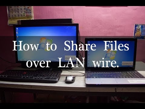 How to Share files/folders between Two Computers over LAN cable