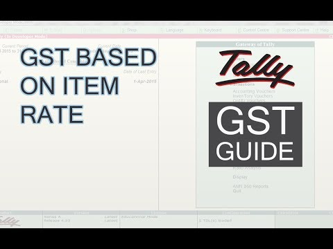 How to Set GST Based on Item Rate in Tally ERP 9 | For Garments & Apparels