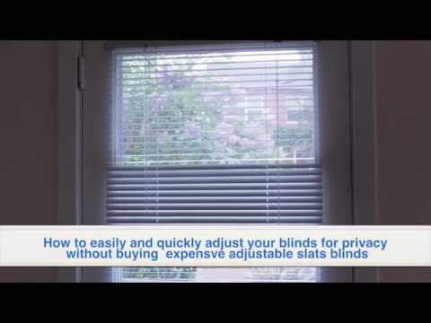 How to easily and quickly adjust your blinds for privacy without buying  expensve adjustable slats b