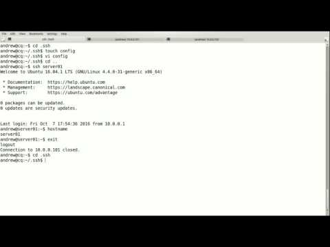 Creating and Using an ssh config file