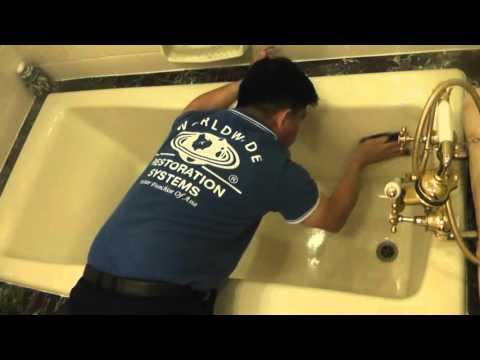 SPRAY & WIPE (SG) Solution to remove Yellow Stain on bathtub @ Hotel