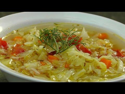 Vegan Vegetarian Greek Recipe: Cabbage Soup - Lahano Katsarolas