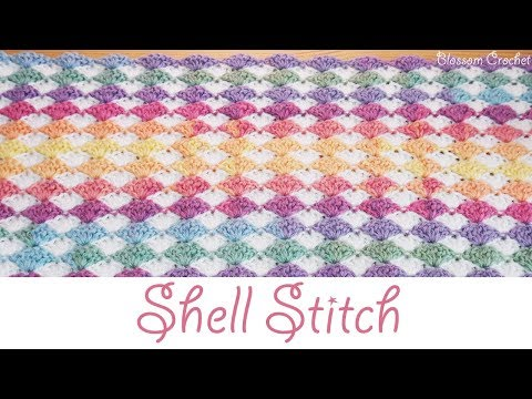 Stunning Crochet Shell Stitch - Blanket / Scarf (beginner friendly)