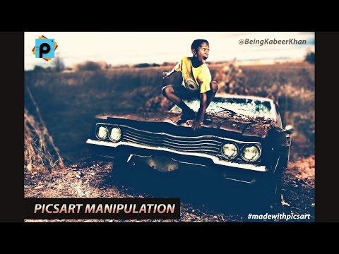 PicsArt Tutorial : PicsArt Manipulation Tutorial Boy on Car (Manipulation Tutorial #1)