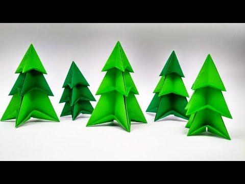 Origami Christmas Tree easy  by Yakomoga - Yakomoga Origami Easy tutorial