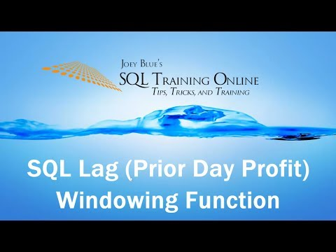 Prior Day Profit using the Lag Function - SQL Training Online