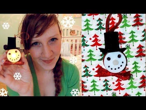 Snowman LED Tea Light Ornament