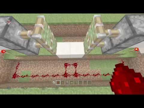 Minecraft: Xbox One Edition - Redstone Sliding Door Tutorial