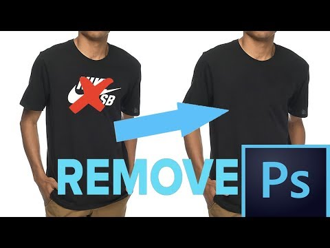 HOW TO Remove Shirt/Hoodie LOGO In PhotoShop (LEARN IN 1 MINUTE)