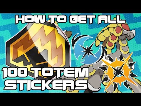 Guide To All 100 Totem Sticker Locations - How To Get Totem Pokemon in Ultra Sun and Ultra Moon