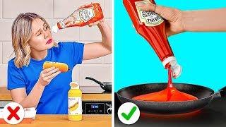 TRIK SEPUTAR MAKANAN UNTUK PEMALAS || Trik Genius Seputar Makanan dan Trik Lucu yang Bisa Kamu Tiru