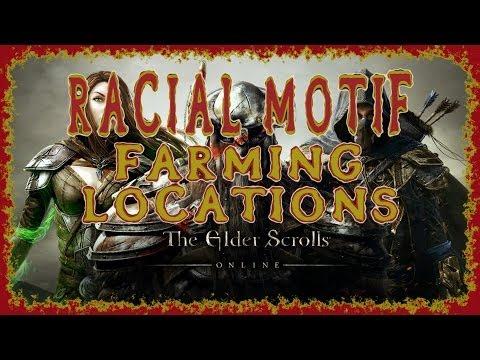 Elder Scrolls Online | Racial Motif Farming Locations Including Imperial | Racial Crafting Styles