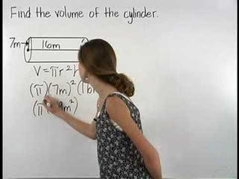 Volume of a Cylinder - MathHelp.com - Math Help