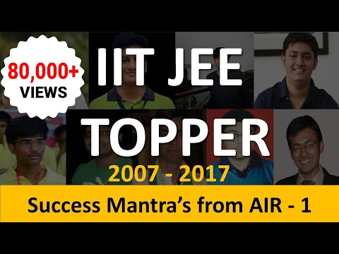 IIT JEE Toppers List: Strategies & Motivation to Crack Exam with Maximum Score