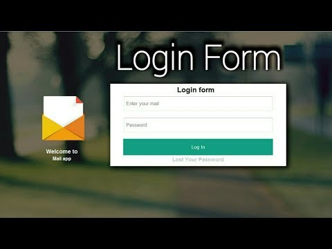 How to create login form using Html and css