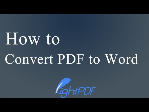 How to Convert PDF to Word Document (Free & No Watermark)