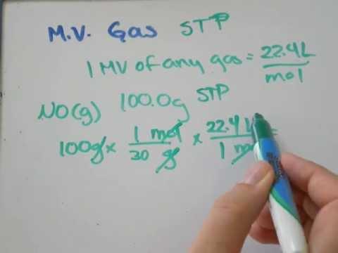 Molar Volume of a Gas at STP 22.4L Litres Molecular Volume