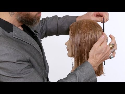 How to cut a precise one length haircuts | Waterfall elevation