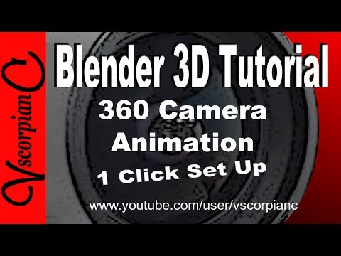 Blender 3d Tutorial - How to Make an Animation 360 Turntable Display by VscorpianC