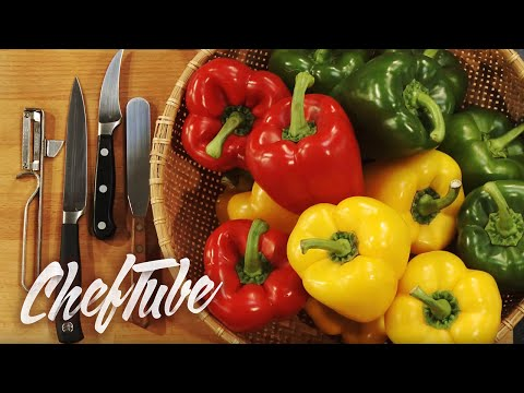How to prepare Peppers (Capsicum) for stuffing, cooking or grilling.