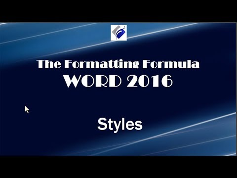Word 2016   Styles
