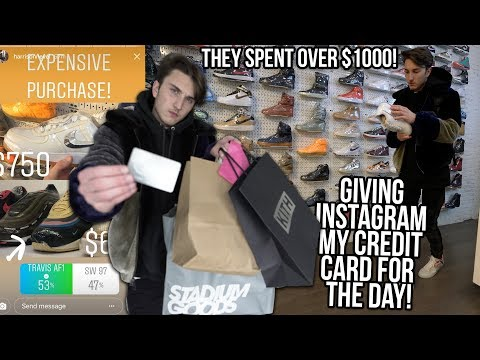 LETTING INSTAGRAM CONTROL MY CREDIT CARD FOR THE DAY IN NYC!