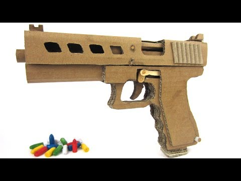 How To Make Cardboard Gl0ck 19 That Sh00ts - With Magazine