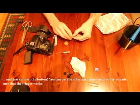 DIY Remote shutter for DSLR cameras with a pair of earphones