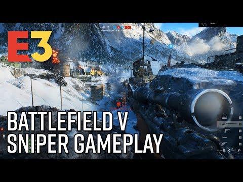Battlefield V Sniper Gameplay - E3 2018