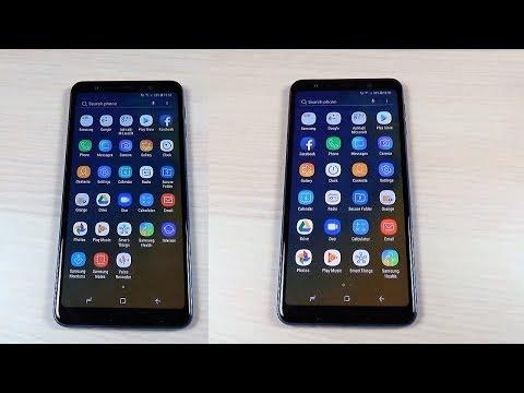 Samsung Galaxy A7 & A9 (2018) - How to Configure Bigger Icons