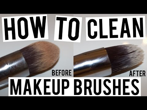 HOW TO CLEAN MAKEUP BRUSHES (+beauty blender!)