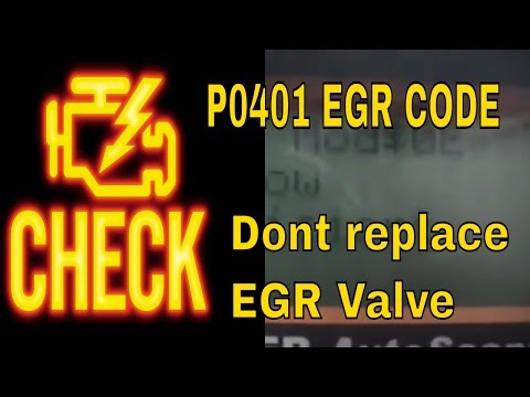 How to fix the Check Engine Code P0401 EGR Flow EGR Valve on V6 Honda and Acura