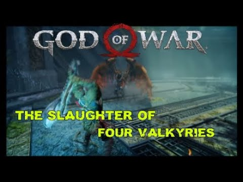 The SLAUGHTER of four Valkyries GOD of WAR