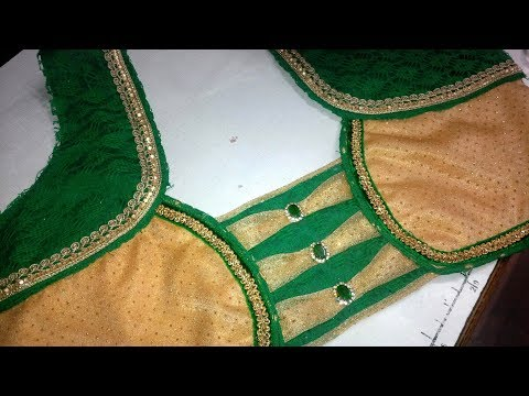 new  blouse design cutting and stitching at home