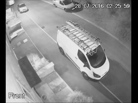 Ford Transit broken into