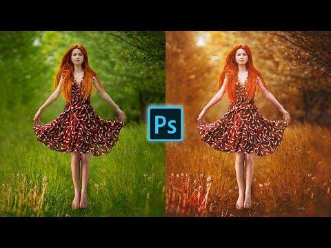 Portrait Dark Golden Color Effect using Adobe Photoshop CC