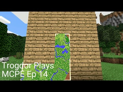 Let's Play Minecraft Pocket Edition: Ep 14 Map Wall and Stuff